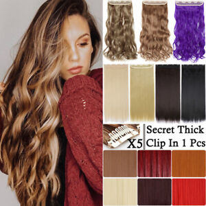 Extra-Thick-Long-Curly-Ombre-One-Piece-Full-Head-Clip-In-Hair-Extension-As-Human
