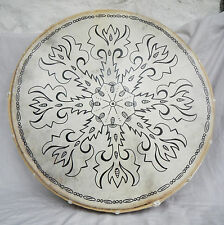 Very Large Hand Made Bhodran / Shamanic Frame Drum and Beater - 50cm
