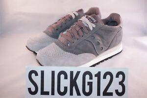 buy popular 2c0d6 dd714 Image is loading Saucony-Jazz-Original-Luxury-Pack-Premium-Suede-Grey-