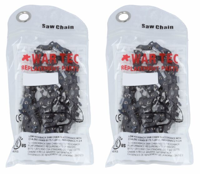 "WAR TEC 20/"" Chainsaw Saw Chain  Pack Of 2 Fits PARKER Chainsaw 58cc 62cc"
