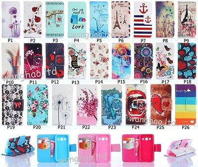 Fashion Hybrid Cute Printed Design Flip PU Leather Stand Case Cover For Samsung