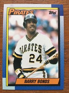 4c176cc9a46 Image is loading 1990-Topps-Baseball-Card-220-Barry-Bonds-Pittsburgh-