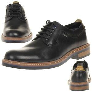 Details zu Clarks Darby Walk GTX Herren Men Schuhe Leder schwarz Gore Tex
