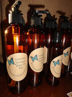 100% Pure Moroccan Argan Oil  Clear Cold Pressed All Hair Types