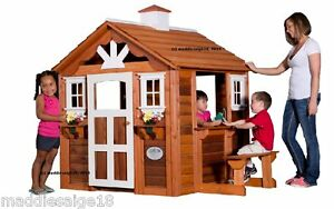 Leisure Time Products Cedar Childrens Outdoor Summer Cottage