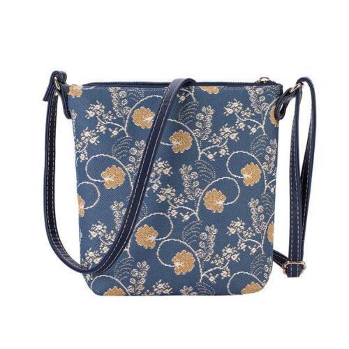 Signare Tapestry Sling bag cross body new design Austen-Blue