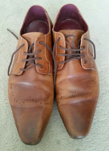 YD size 43 UK9, US10 Tan leather men's shoes
