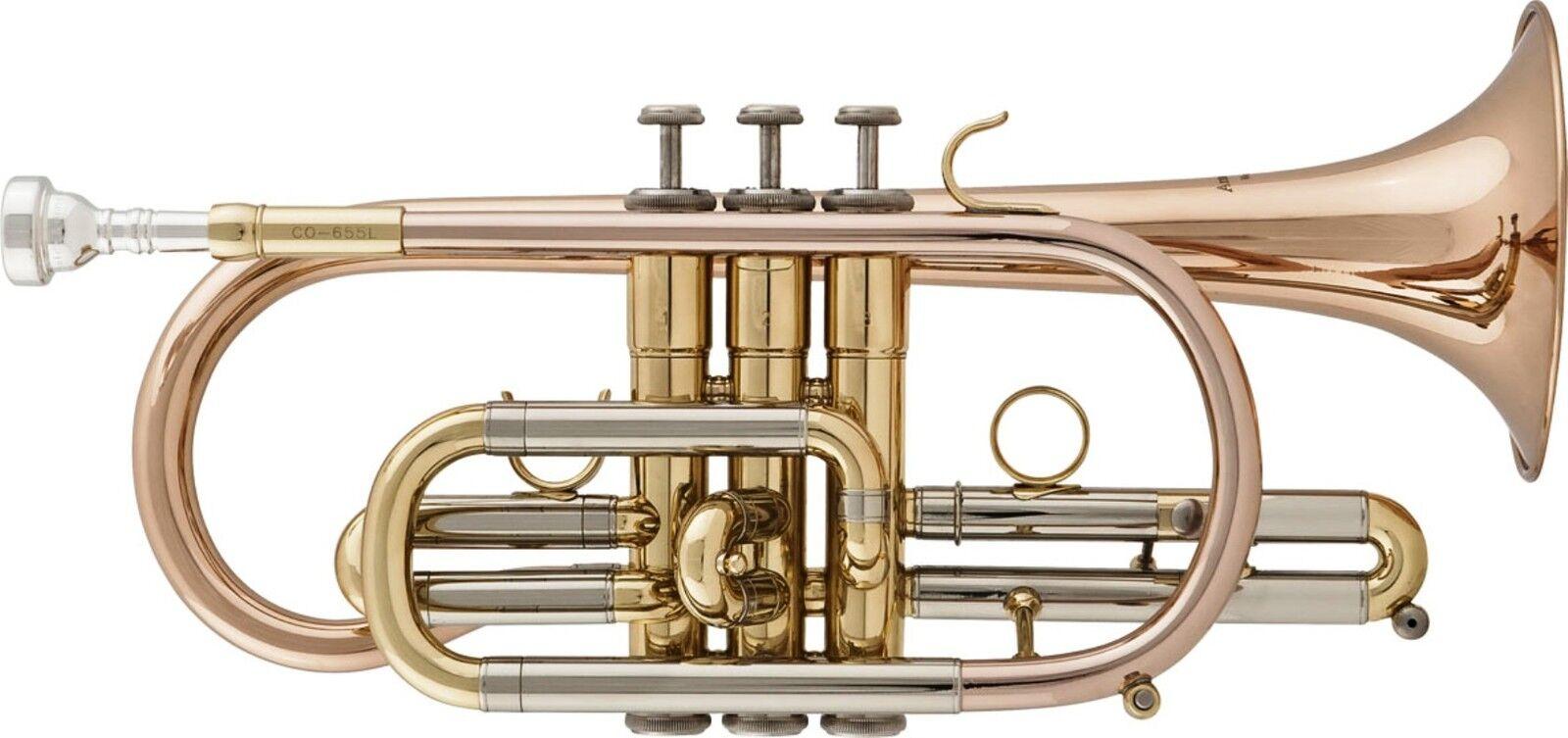Arnolds & Sons B-Kornett Cornet ACR-655G Goldmessingschallstück Monelventile