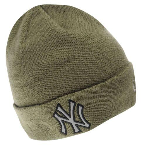 Genuine New Era NY New York Yankees Night Ops Cuff Beanie Kaki Acrylique