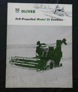 "1956 ""THE OLIVER MODEL 35 SELF-PROPELLED COMBINE"" SALES CATALOG BROCHURE MINTY"