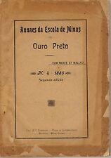 Annaes da Escola de Minas de Ouro Preto - No. 4 - 1885 - 2nd edition