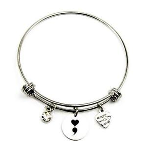 Details About Womens Path Of Symbols Love Charm Bangle Meaningful Expandable Wire Bracelets