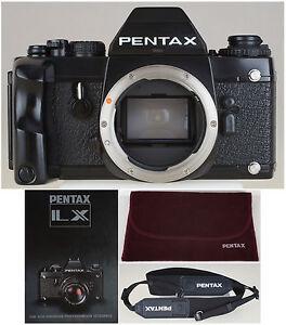 Pentax-LX-Body-Sucher-FA-1-Techn-kosm-TOP-Gurt-Griff-Samt-Huelle-DIN-A4-Prospekt