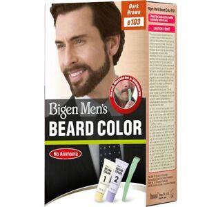 Details about Bigen Men\'s Beard Color, Dark Brown B103 (20g+20g) Free  Shipping