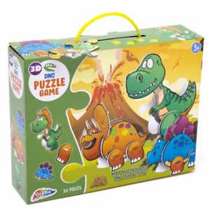Kids-Dino-Puzzle-33-Pieces-3D-Animal-Floor-Jigsaw-Children-039-s-Fun-Activity-3