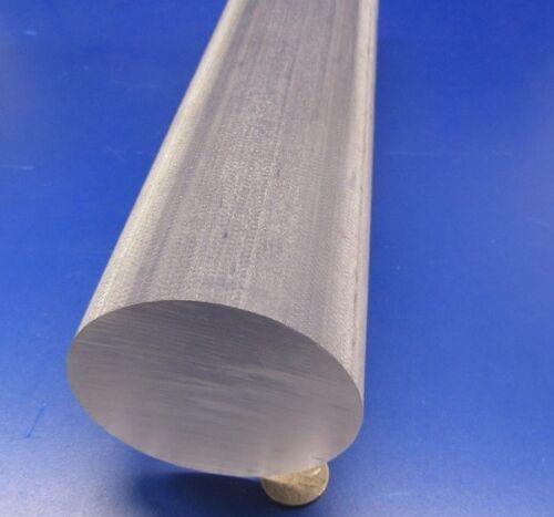 "Polycarbonate Round Rod 3.0/"" Diameter x 12/"" Length Natural Tint"