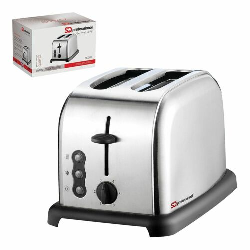 1.8L Cordless Electric Swivel Kettle & Two Slice Wide Slot Bread Toaster Silver
