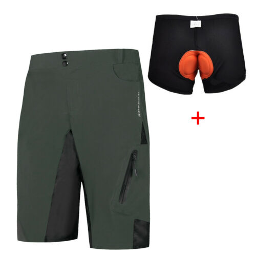 Men/'s Baggy Cycling Shorts Loose-fit MTB Mountain Bike Bicycle Casual Pants Gift