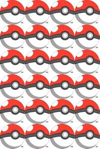 Cupcake Toppers Pokemon personalised Rice paper,Icing fondant Sheets 818