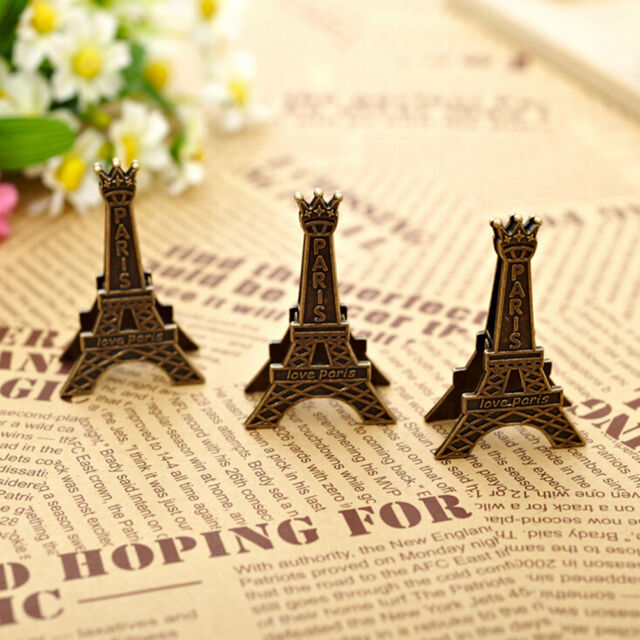 Eiffel Tower Decoration Photo Memo Clip Stand Display Holder Card Home RG