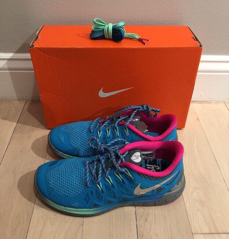 Women's Nike Free 5.0 DB Sz 6.5 Doernbecher 100%Authentic Blue Lagoon 728651-400