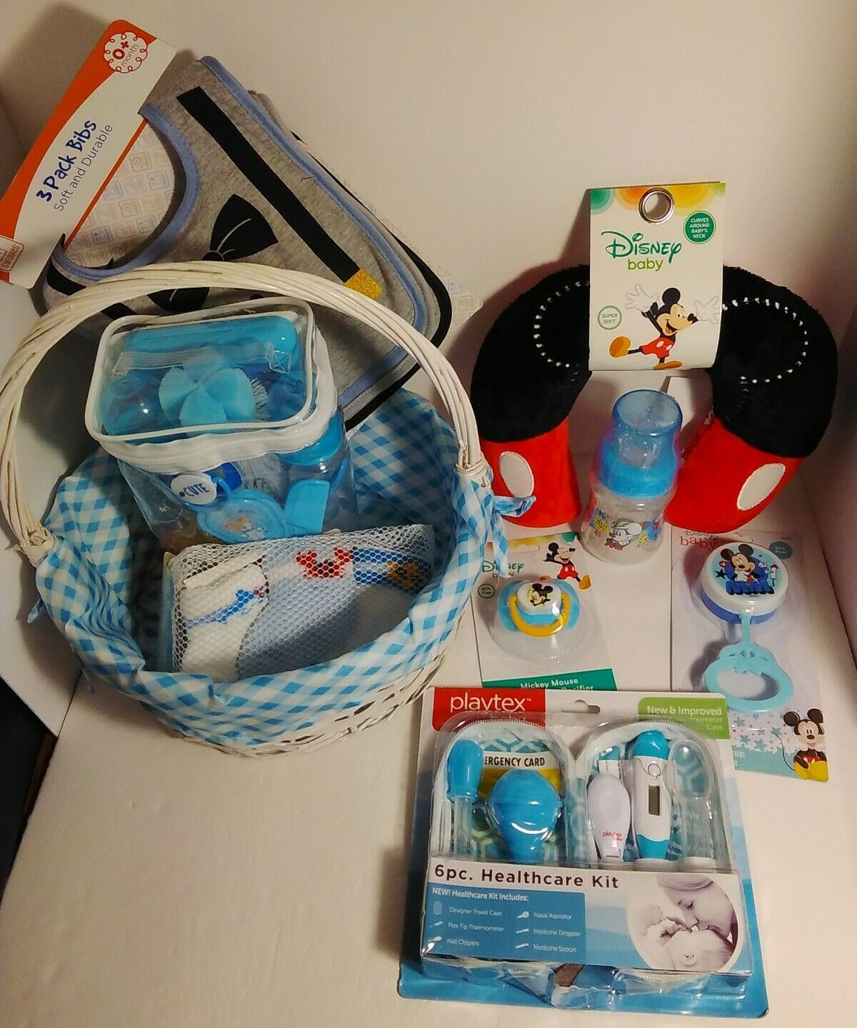 Disney Child Mickey Mouse Playtex Healthcare New child Equipment Lot of 9 Reward 👀PICTURES