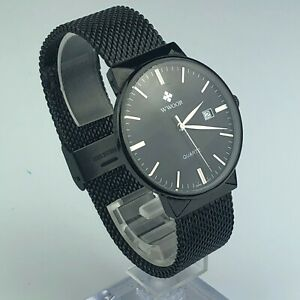 Wwoor-Mens-WR-8826M-Stainless-Steel-Casual-Sport-Watch-Quartz-Black-Band