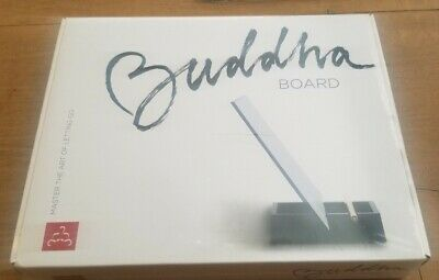 The Original BUDDHA BOARD:Relaxing Water Painting with Bamboo Brush /& Stand,