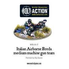 Warlord Bolt Action Italian Airborne Breda Medium Machine Gun Team Free UK P&P