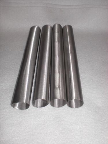"""4 pack of Food grade Stainless Steel 50 Micron Mesh Rosin Terp Tubes 1/"""" x 9/"""" 50u"""