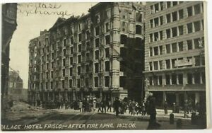 Postcard-San-Francisco-CA-Palace-Hotel-Frisco-Fire-Earthquake-April-18-1906-B-amp-W
