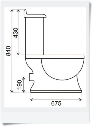 Nostalgie Retro Wc Toilette Stand komplett set inkl.Spülkasten KERAMIK mit Sitz