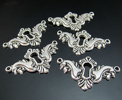 FREE Tibetan silver crown Bracelet Design Findings spacer Connector Bails 38MM