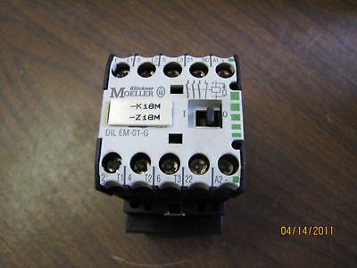 60-day warranty Klockner Moeller DIL EM-01-G 24V DC Contactor Relay DILEM01G