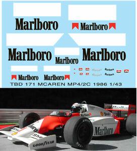 1/43 Mclaren Mp4/2c Mp4/2b 1985 1986 Sponsor Decals Tb Decal Tbd171 RafraîChissant Et Enrichissant La Salive