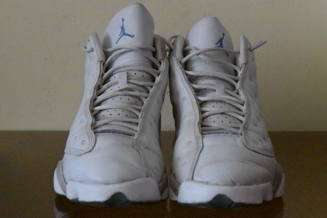 Nike Air Air Air Jordan Retro 13 XIII bianca Flint grigio University blu 310004-103 Sz 9.5 896617