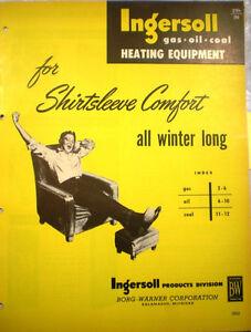Ingersoll-Products-BORG-WARNER-Corporation-Heater-Catalog-ASBESTOS-Gasket-1950s