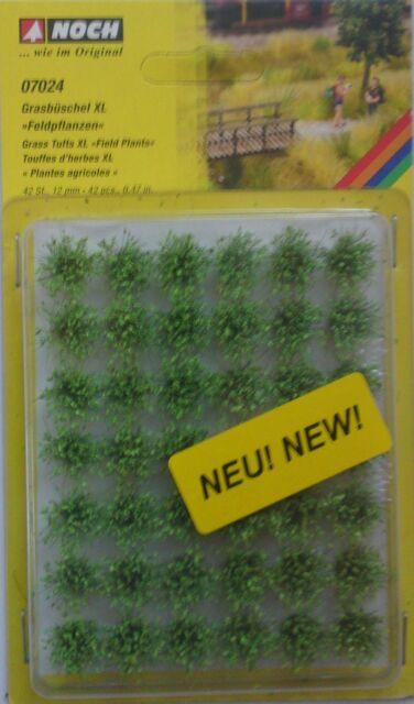 NOCH 07024 Field Plants Grass Tufts XL (42) 12mm 00/H0 Model Railway