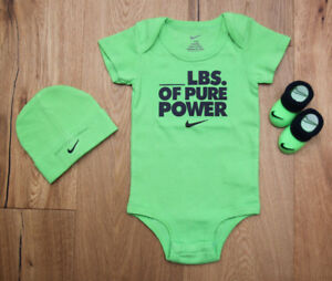 White /& Black~0-6M Bodysuit /& Booties Set~Neon Pink Nike Baby Girl 3 Piece Hat