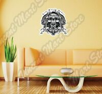 World Order Skull Government Occult War Wall Sticker Interior Decor 22x22