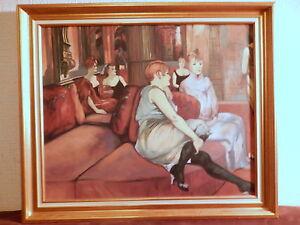 Tableau-peinture-reproduction-d-039-apres-peintre-Toulouse-Lautrec