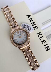 Anne Klein Watch * 1492MPRG Swarovski Mother of Pearl Rose Gold Steel for Women