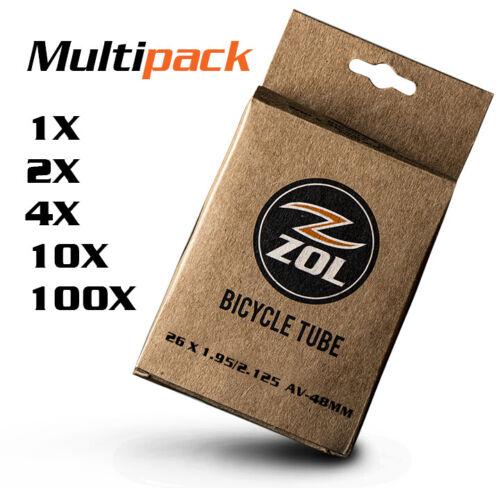 "Zol MTB Bicycle Bike Bicycle Inner Tube 26/""x1.95//2.125 SCHRADER VALVE48mm"
