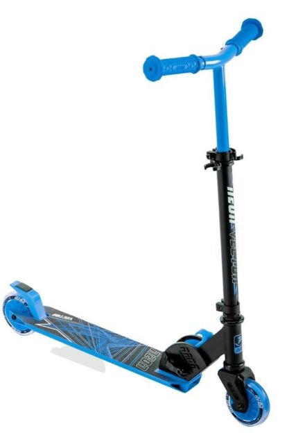 NEW Black Kick Scooter for Kids with Light Up Wheels FREE SHIPPING