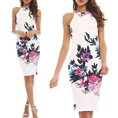 Women Summer Sexy Floral Casual Party Evening Cocktail Short Mini Dress Sundress