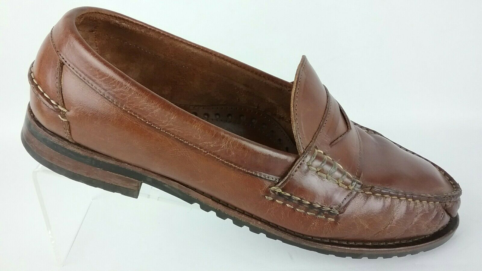 Allen Edmonds Coppell Men's Moc Toe Driving Penny Loafer Brown shoes R2S4