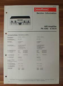 Tv, Video & Audio AnpassungsfäHig Hifi-amplifier Pa1050 9.150h Nordmende Service Manual Serviceanleitung Kataloge Werden Auf Anfrage Verschickt