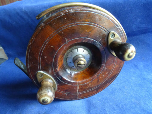 "A GOOD 5"" UNNAMED SMITH & WALL NOTTINGHAM CENTREPIN REEL WITH RARE CENTRE DRAG"