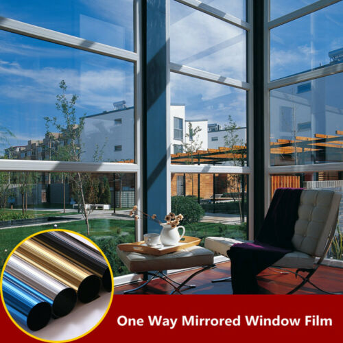 Silver Reflective Window Tint Film One way mirrored Privacy Home glass decor