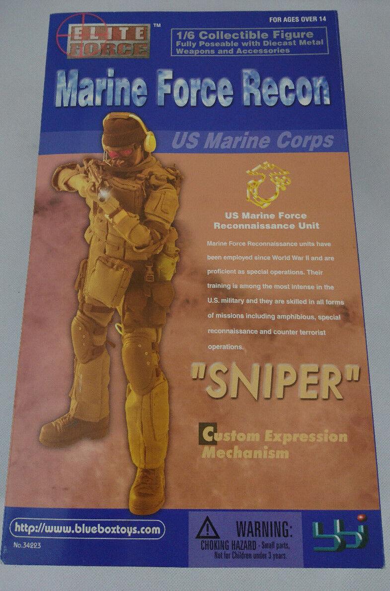 Elite Force Force Force Marine Force Recon  Sniper  1 6 Scale Action Figur MISB 28 cm b3c7b1